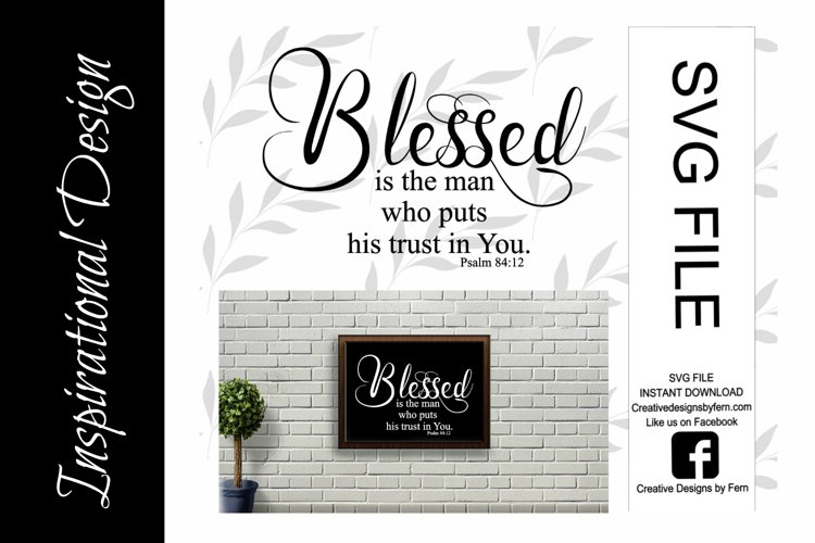 Blessed, trust in You SVG FILE example image 1