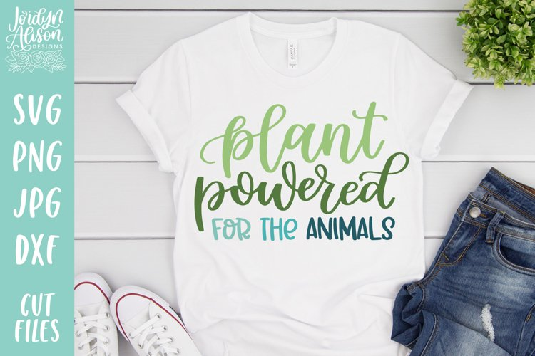 Plant Powered for the Animals, Vegan Environment SVG File example image 1