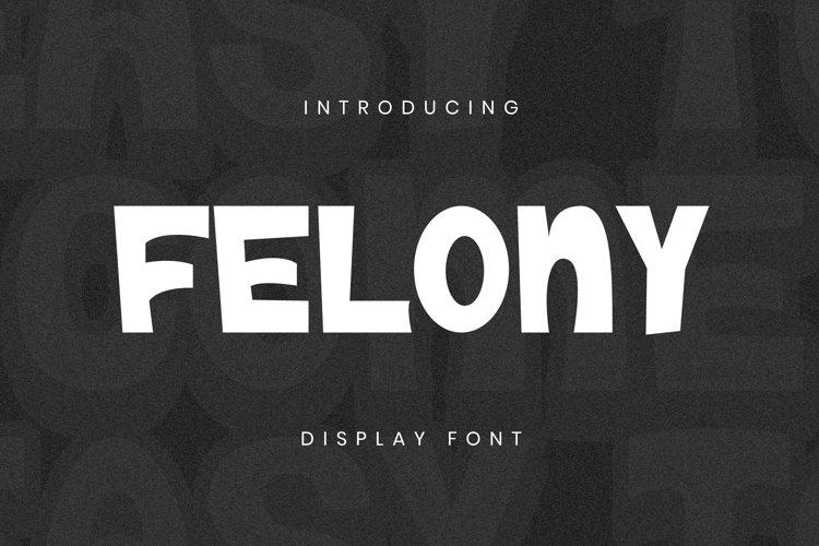 Felony Font example image 1