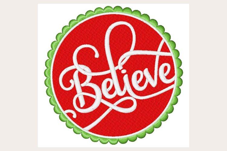 Believe - Machine Embroidery Design example image 1