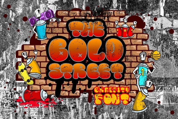 The Bold Street - Bold Graffiti Font example image 1