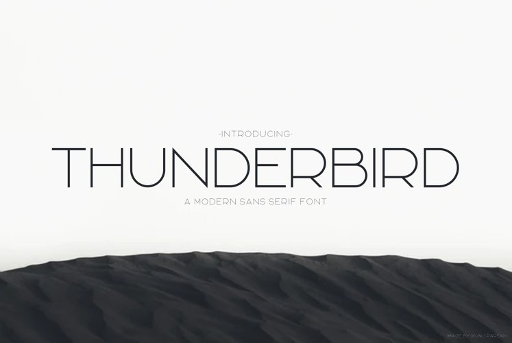 Thunderbird | Modern Font example image 1