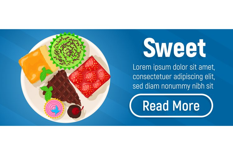Sweet concept banner, isometric style example image 1