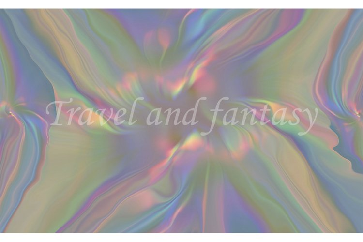 Abstract iridescent rainbow texture background. example image 1