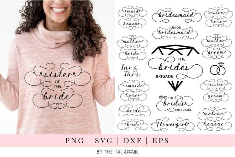 Bridal Party, Wedding Party SVG bundle