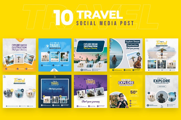 Travel 10 Social Media Post example image 1