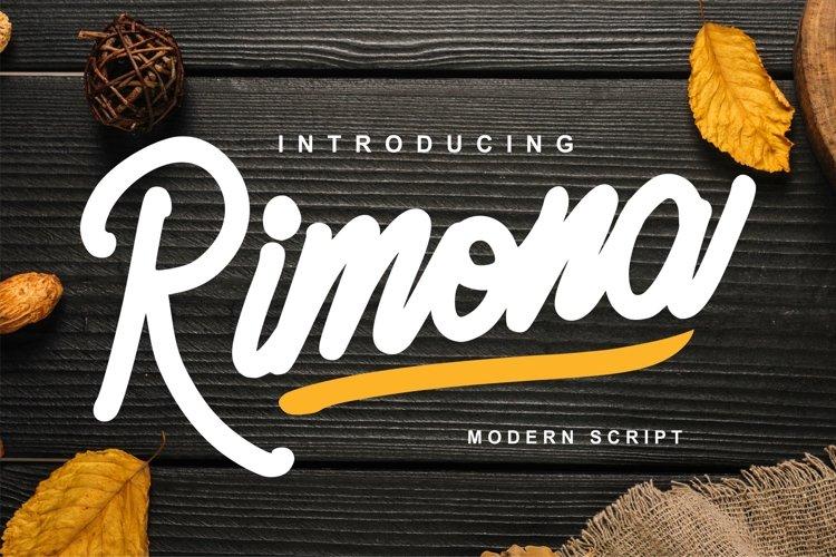 Rimona - Modern Script example image 1