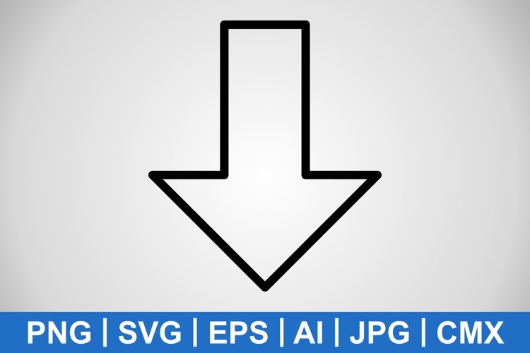 Vector Down Icon example image 1