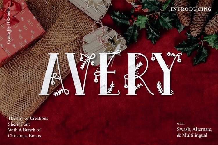 Avery - Christmas Fairy font example image 1