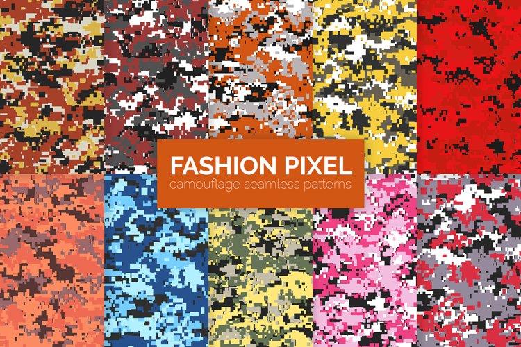 Fashion Pixel Camouflage Patterns example image 1