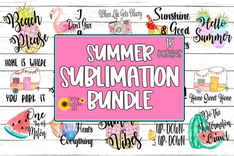 Summer Sublimation Bundle - PNG - 15 Summer Designs