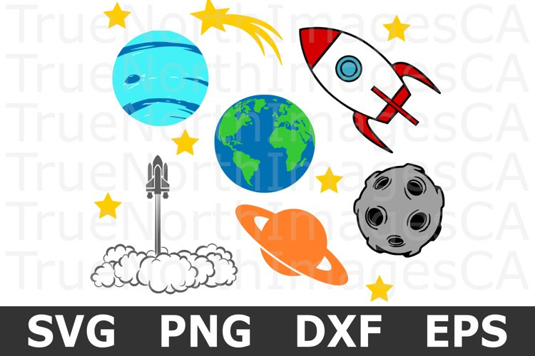 Space Bundle - SVG Cut Files and Clipart