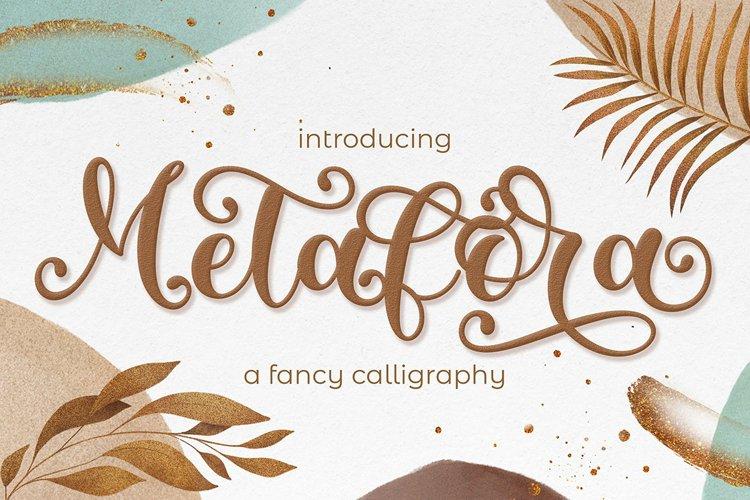 Metafora   Fancy Calligraphy example image 1