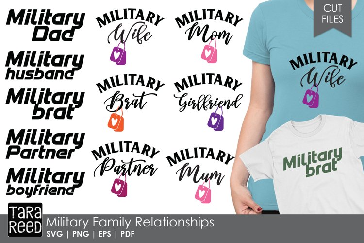 Military Family Relationships - Military SVG and Cut Files