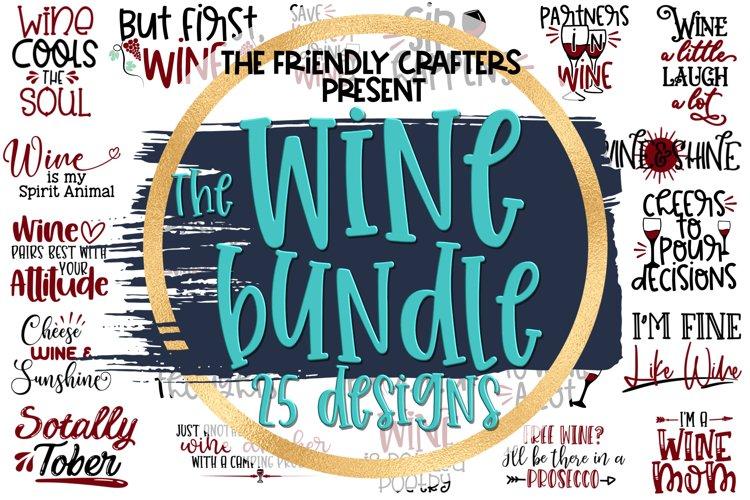 Wine Bundle - A Bundle of 25 Wine SVGs example image 1