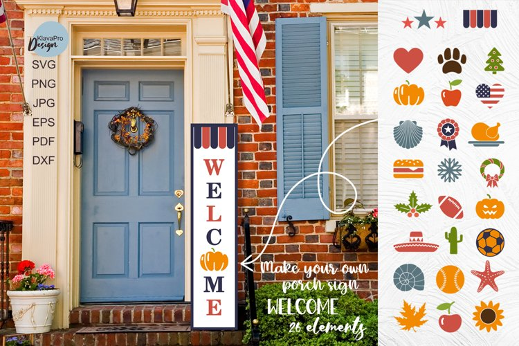 Create Your Own Porch Sign WELCOME SVG Cut File Bundle example image 1