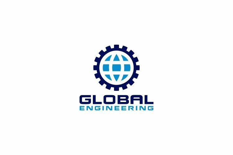 Engineering Global Logo Design Vector