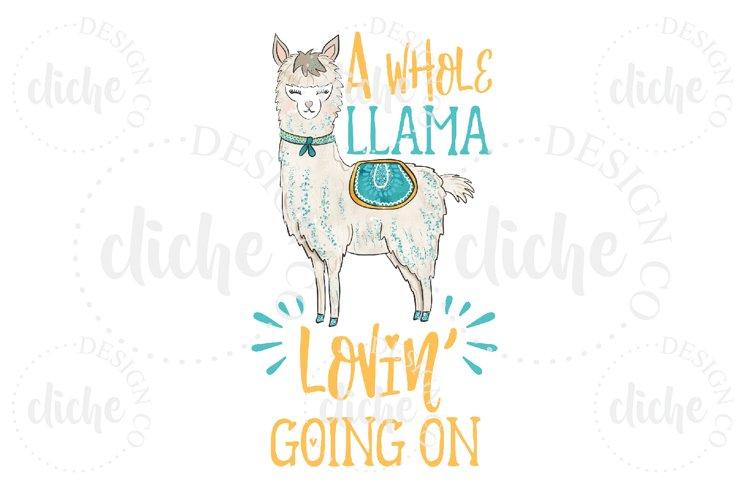 Llama Sublimation Design