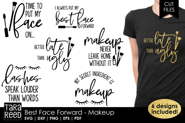 Best Face Forward - Makeup SVG and Cut Files for Crafters