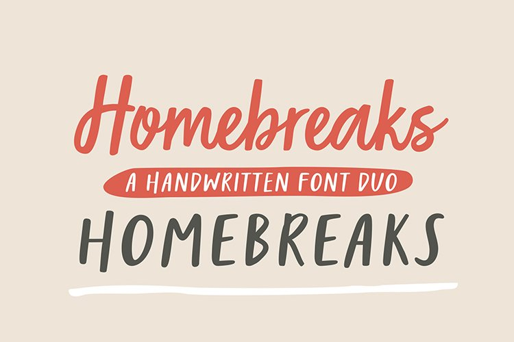 Homebreaks | A Handwritten Font Duo example image 1