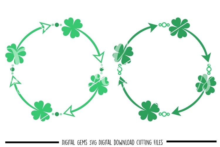 St Patricks day Shamrock frames SVG / PNG / EPS / DXF Files