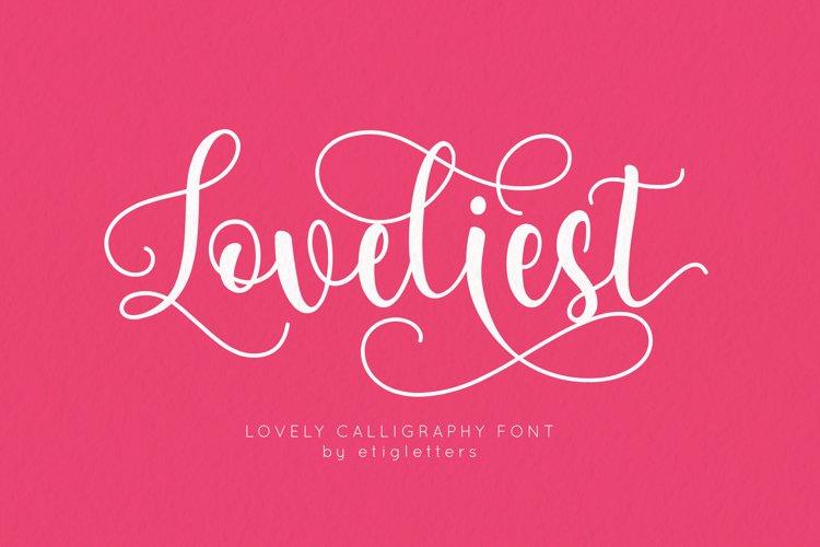 Loveliest Calligraphy Font example image 1