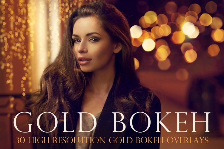Gold bokeh overlays example image 1