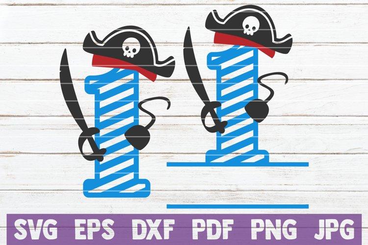 Pirates Birthday No 1 SVG Cut File example image 1