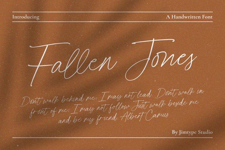 Fallen Jones | a Handwritten Font example image 1