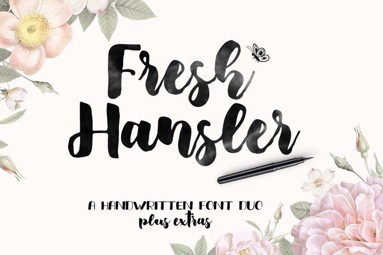 Fresh Hansler - Font Duo plus Extras example image 1