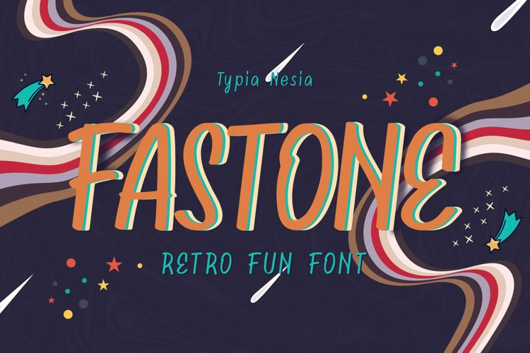 Fastone - Retro Fancy Font example image 1
