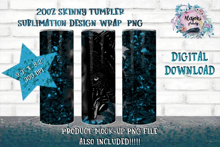 Outdoors  Camping  Wolf Sublimation 20oz Tumbler design wrap example image 1