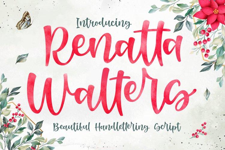 Stylish Script - Renatta Walters Font example image 1