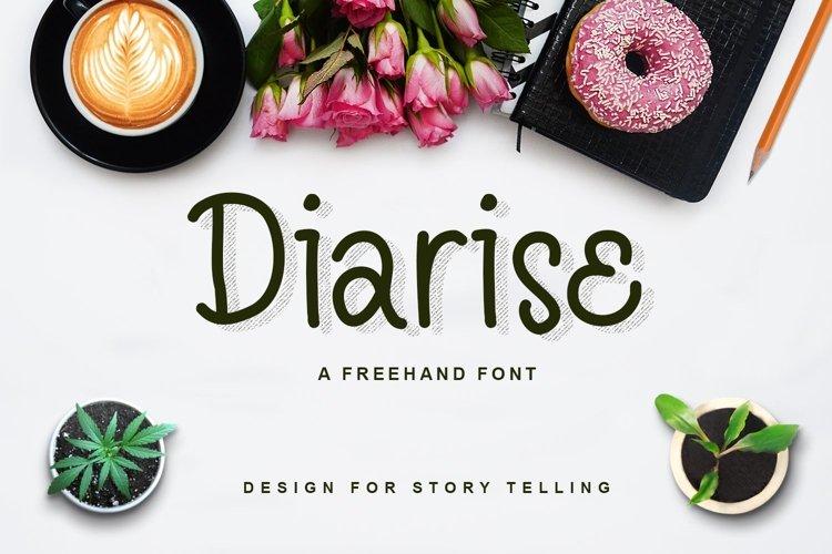 Web Font Diarise example image 1