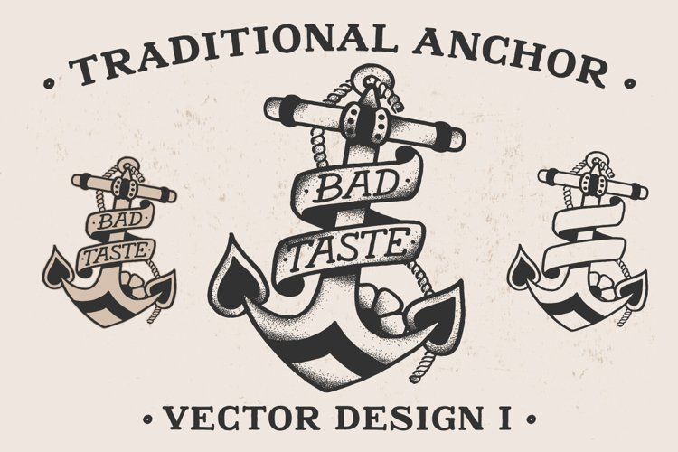 Traditional Anchor Vector Design I example image 1