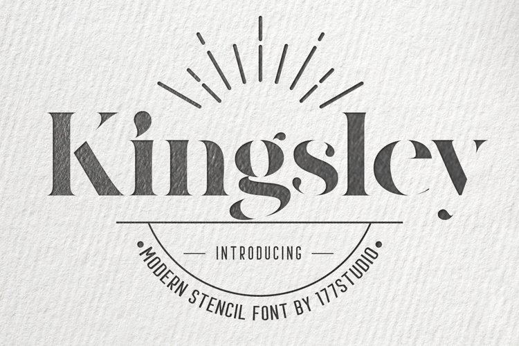 Kingsley - Modern Stencil Font example image 1