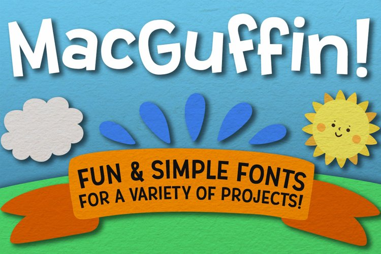 MacGuffin - fun font set example image 1