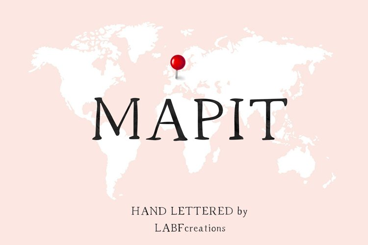 MapIT Serif font. Minimalist. Classic and vintage example image 1