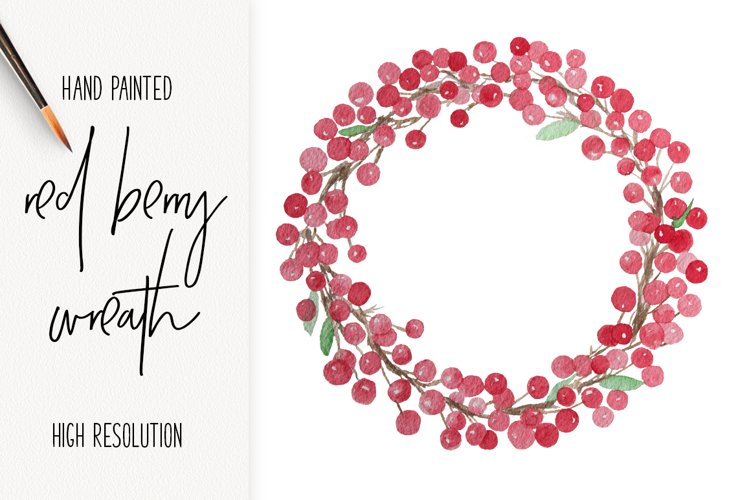 Red Berry Wreath Christmas Clip Art
