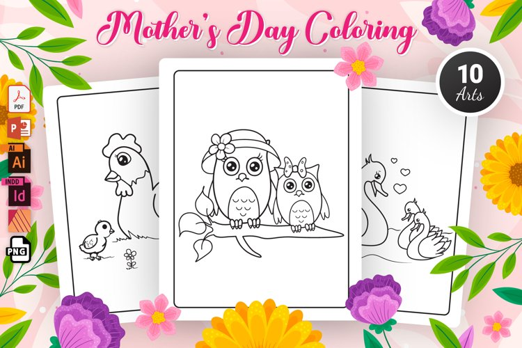 Mothers Day Coloring Pages - KDP Interior
