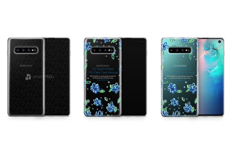 Samsung Galaxy S10 TPU Clear Case Mockup 2019 example image 1