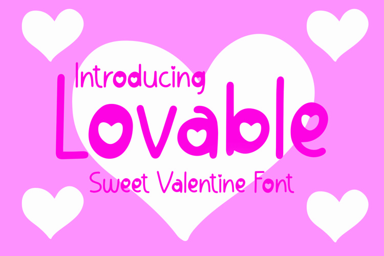 Web Font Lovable - Sweet Valentine Font example image 1