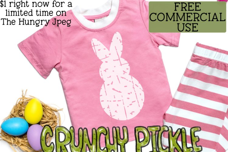 Plaid & Grunge Spring Easter Bunny 1 SVG Cut File example 3
