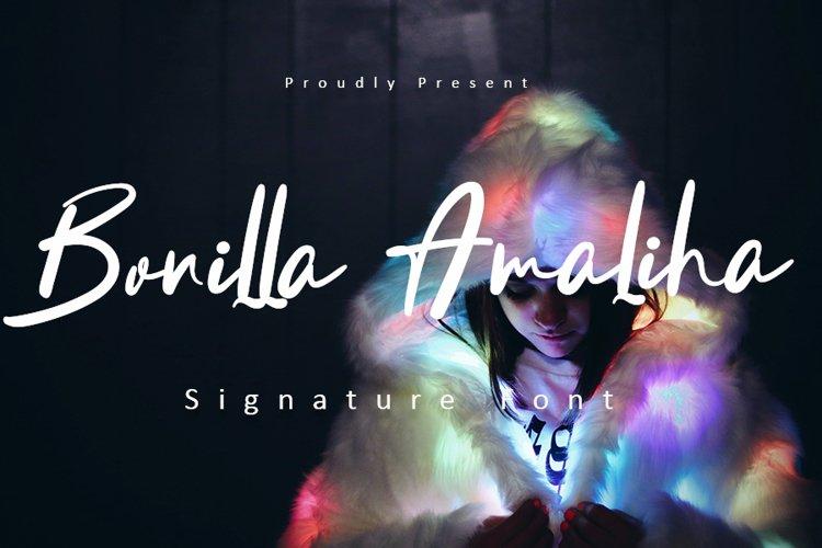 Bonilla Amaliha | Luxury Signature Font example image 1