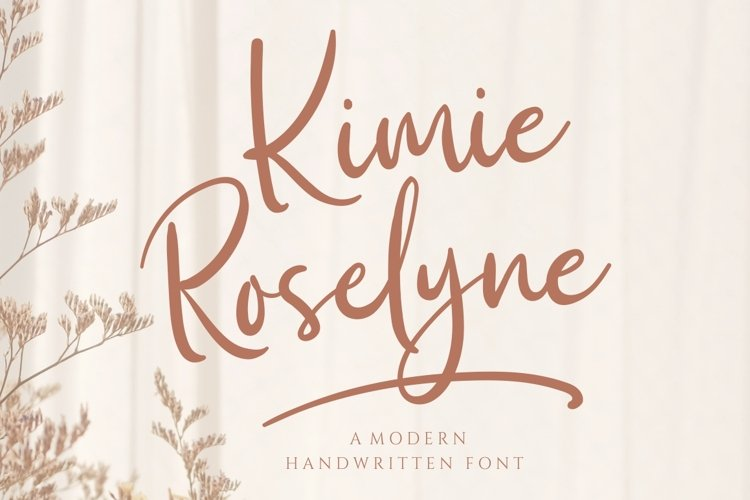 Kimie Roselyne Signature Font example image 1