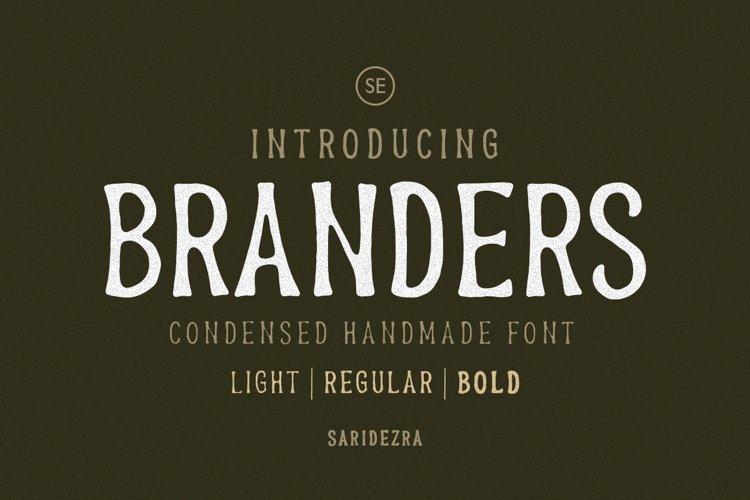 Branders - Condensed Handmade Font example image 1