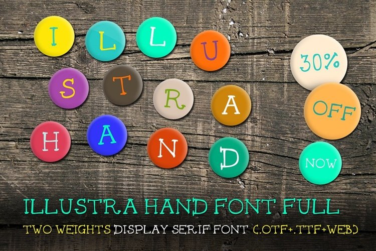 Illustra Hand Font [30% off]  example image 1