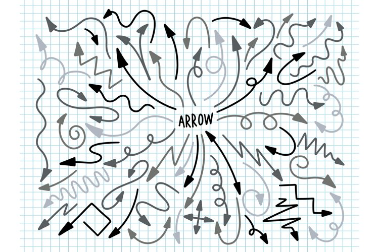 Arrow collection design decoration. example image 1
