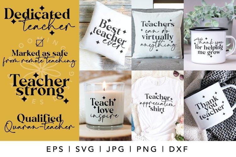 Teacher SVG, teacher appreciation, gift bundle