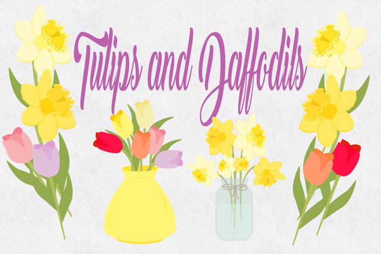 Tulips and Daffodils  example image 1